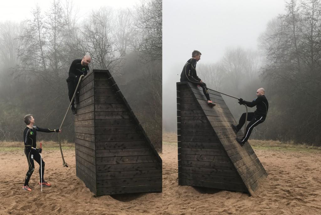 team blindstyre tränar